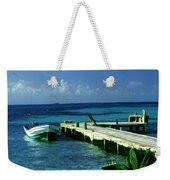 South Caye Belize Boat Dock Weekender Tote Bag