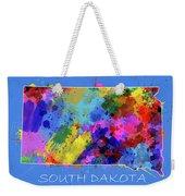 South Dakota Map Color Splatter 3 Weekender Tote Bag