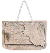 South Dakota State Usa 3d Render Topographic Map Neutral Border Weekender Tote Bag