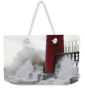 South Haven Lighthouse 3 Weekender Tote Bag