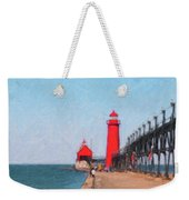 South Pier Of Grand Haven Weekender Tote Bag