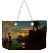 Southern Coastal View By Moonlight Weekender Tote Bag