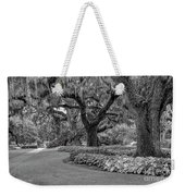 Southern Oaks In Black And White Weekender Tote Bag