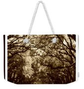 Southern Welcome In Sepia Weekender Tote Bag