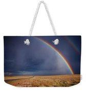 Southwest Double Rainbow Weekender Tote Bag
