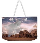 Southwest Navajo Rock House And Lightning Strikes Weekender Tote Bag