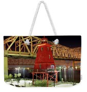 Southwest Reef Lighthouse, Berwick, Louisiana Weekender Tote Bag