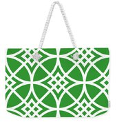 Southwestern Inspired With Border In Dublin Green Weekender Tote Bag