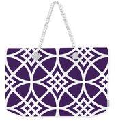 Southwestern Inspired With Border In Purple Weekender Tote Bag