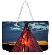Southwestern Teepee Sunset Weekender Tote Bag