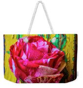 Soutime Rose Against Cracked Wall Weekender Tote Bag