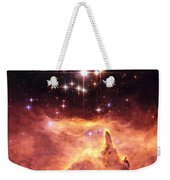 Space Image Orange And Red Star Cluster With Blue Stars Weekender Tote Bag