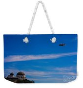Space Shuttle Over Griffith Observatory Weekender Tote Bag