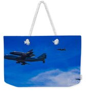 Space Shuttle Over Griffith Park Weekender Tote Bag
