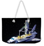 Space Shuttle With Hubble Telescope Weekender Tote Bag