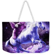 Space Sloth Riding On Unicorn Weekender Tote Bag