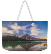 Space Station Passing West To East Weekender Tote Bag