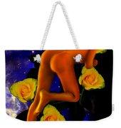 Spacelady On Yellow Roses Weekender Tote Bag