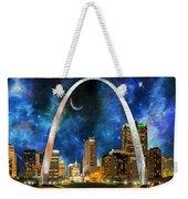 Spacey St. Louis Skyline Weekender Tote Bag