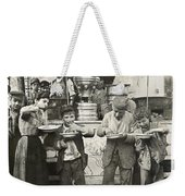 Spaghetti Vendor, C1908 Weekender Tote Bag by Granger