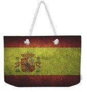 Spain Distressed Flag Dehner Weekender Tote Bag