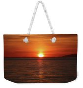 Spanish Banks Sunset - Digital Oil Weekender Tote Bag