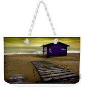 Spanish Beach Hut Weekender Tote Bag