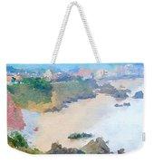 Spanish Coastline Waterline  Weekender Tote Bag