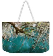 Spanish Moss And Emerald Green Water Weekender Tote Bag