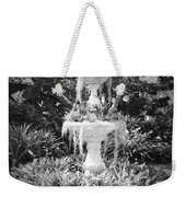 Spanish Moss Fountain With Bromeliads - Black And White Weekender Tote Bag