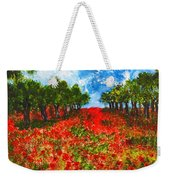 Spanish Poppies Weekender Tote Bag