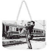 Sparkle At The Train Station - Ballpoint Pen Art Weekender Tote Bag