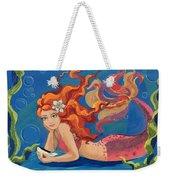 Sparkle Mermaid Weekender Tote Bag