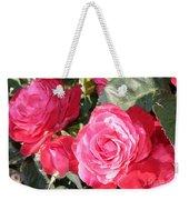 Sparkling Roses Weekender Tote Bag by Carol Groenen