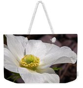 Sparkling White Anemone Weekender Tote Bag
