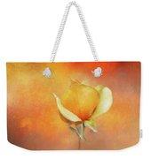 Sparkly Peach Rose Weekender Tote Bag