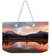 Sparks Lake Sunrise Weekender Tote Bag