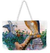 Sparrow Hawk Antique Bird Print Joseph Wolf Birds Of Great Britain  Weekender Tote Bag