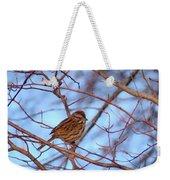 Sparrow On Blue Weekender Tote Bag