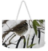 Sparrow On Fence Weekender Tote Bag