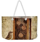 Sparrow On The Feeder Weekender Tote Bag