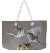 Sparrows Fight Weekender Tote Bag