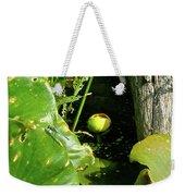 Spatterdock - Wild Yellow Water Lily Weekender Tote Bag