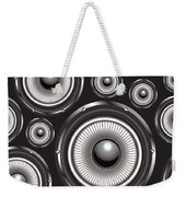 Speakers Over Black Weekender Tote Bag