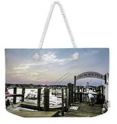 Speared Sunset Over Martha's Vineyard Weekender Tote Bag