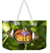 Speckled Butterfly Weekender Tote Bag