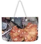 Speckled Leaf Weekender Tote Bag