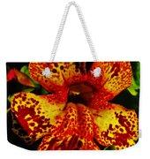 Speckled Petunia Weekender Tote Bag