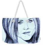 Speed Drawing Of Jennifer Aniston  Weekender Tote Bag