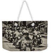 Speedy Motorcycle Weekender Tote Bag